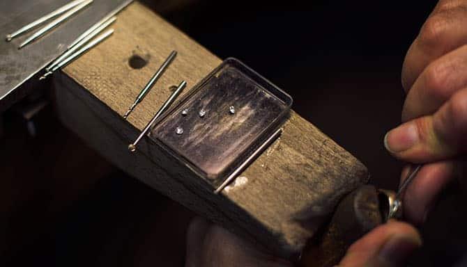 Merkle Ringe und Schmuck Fasserei